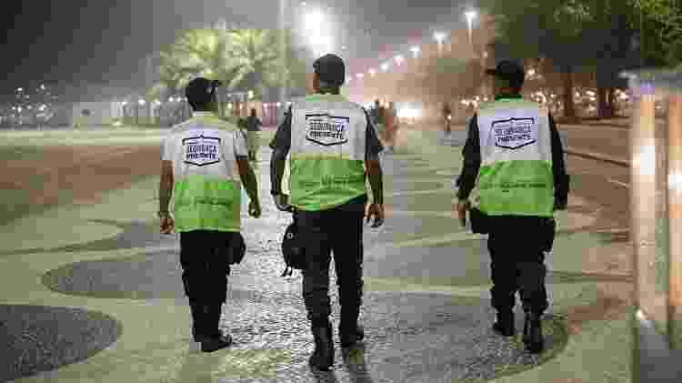 Agentes do Segurança Presente na orla da zona sul do Rio de Janeiro - Divulgação - Divulgação