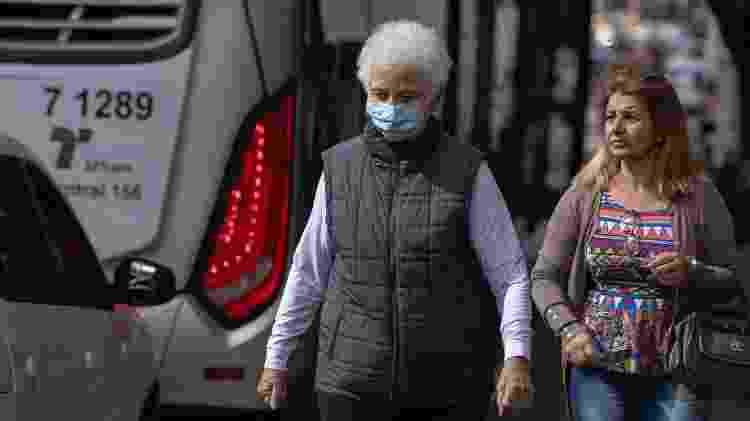 Pedestres se protegem com máscaras na avenida Paulista, em São Paulo - Bruno Rocha: Fotoarena/Estadão Conteúdo - Bruno Rocha: Fotoarena/Estadão Conteúdo