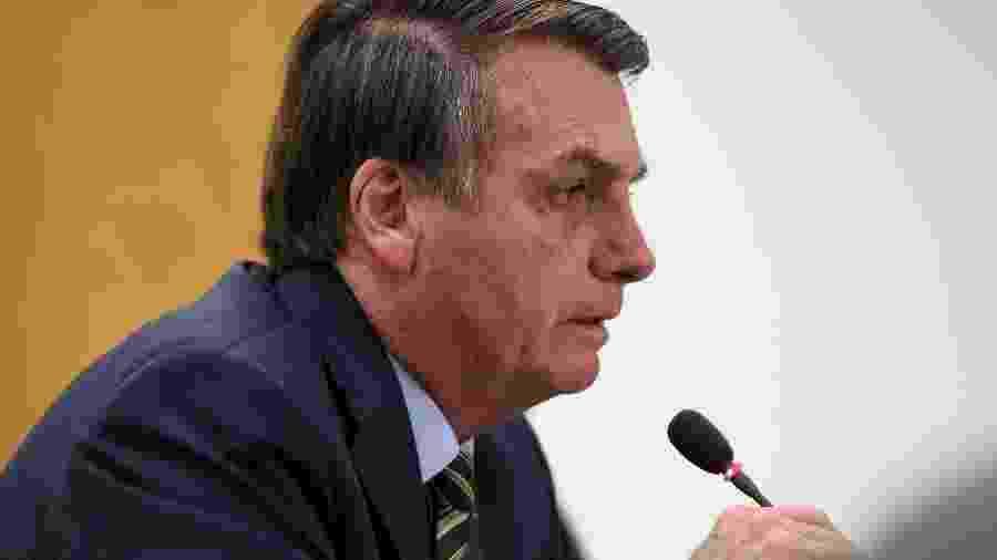 O presidente Jair Bolsonaro (sem partido) em videoconferência - Marcos Corrêa/PR