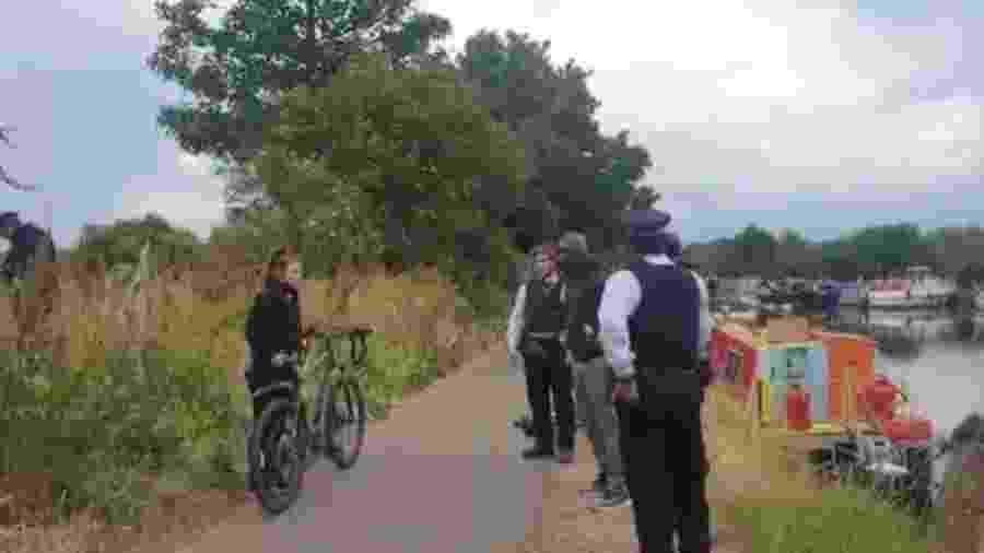 Andrew Boateng e seu filho Huugo foram detidos no norte de Londres enquanto participavam de passeio de bicicleta - Reprodução/Instagram