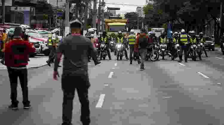 Concentração do ato ocorreu na Vila Olímpia - Felipe Rau/Estadão Conteúdo - Felipe Rau/Estadão Conteúdo