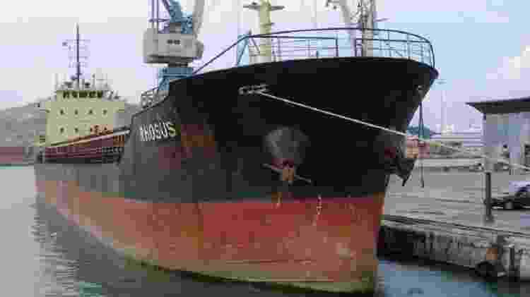 O navio com o nitrato de amônio tinha dono russo, mas bandeira da Moldávia - EPA - EPA