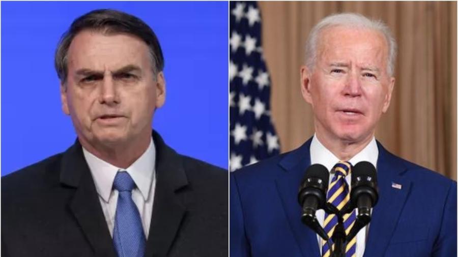 Os presidentes Jair Bolsonaro (Brasil) e Joe Biden (EUA) - AFP e Divulgação