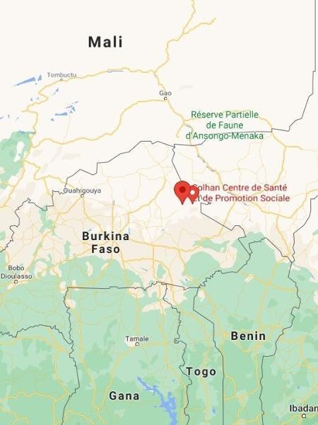 Solhan, na província de Yagha, em Burkina Faso - Reprodução/Google Maps