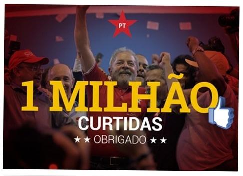 Página do Facebook do Partido dos Trabalhadores comemoram 1 milhão de curtidas
