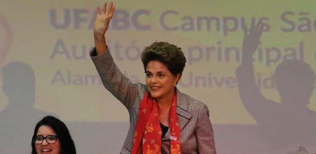 """Dilma participa do ato """"Em Defesa de Políticas para a Educação, Ciência, Tecnologia e Inovação"""", no campus da Universidade Federal do ABC"""