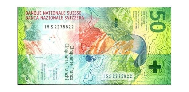 Oscar da Moeda: nota de 50 francos suíços