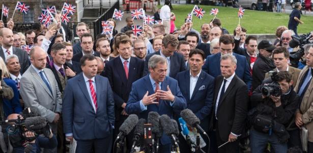 Nigel Farage, líder do Partido da Independência em Londres