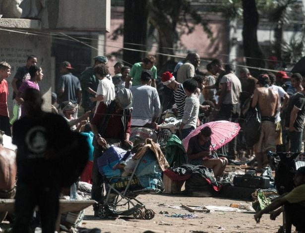 A cracolândia foi para a praça Princesa Isabel, região histórica do centro, em 21 de maio