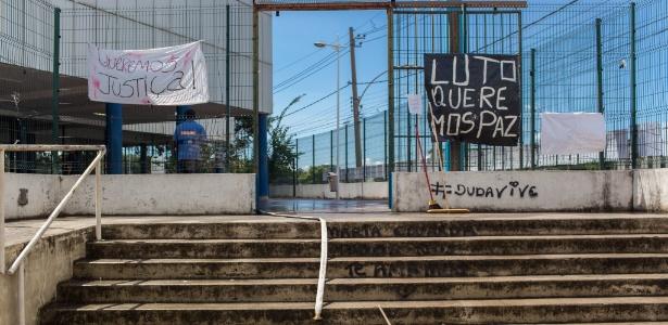 03.abr.2017: Escola municipal Daniel Piza, onde morreu Maria Eduarda, após tiroteio no Rio
