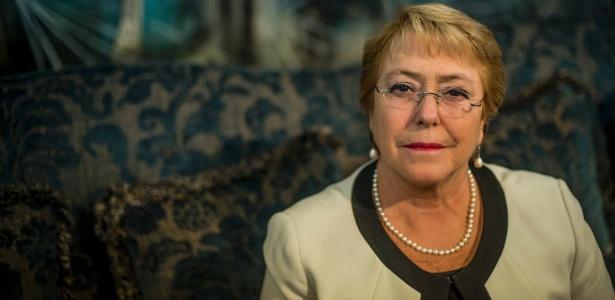 A presidente do Chile, Michelle Bachelet, cujo segundo mandato termina no próximo ano