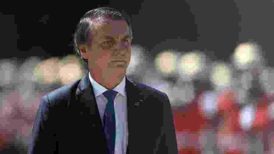 Em março, Bolsonaro esteve com fuzileiros navais em sua primeira cerimônia oficial no Rio - Fábio Motta/Estadão Conteúdo