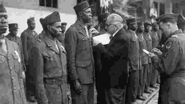 Estima-se que um milhão de soldados africanos tenham lutado ao lado dos Aliados - Getty Images