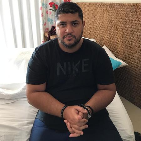 André de Oliveira Macedo, conhecido como André do Rap, líder do PCC, ao ser detido em Angra dos Reis - Arquivo pessoal