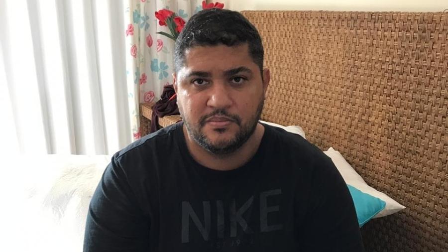 André de Oliveira Macedo, conhecido como André do Rap, líder do PCC, ao ser detido em Angra dos Reis, em setembro de 2019 - Arquivo pessoal