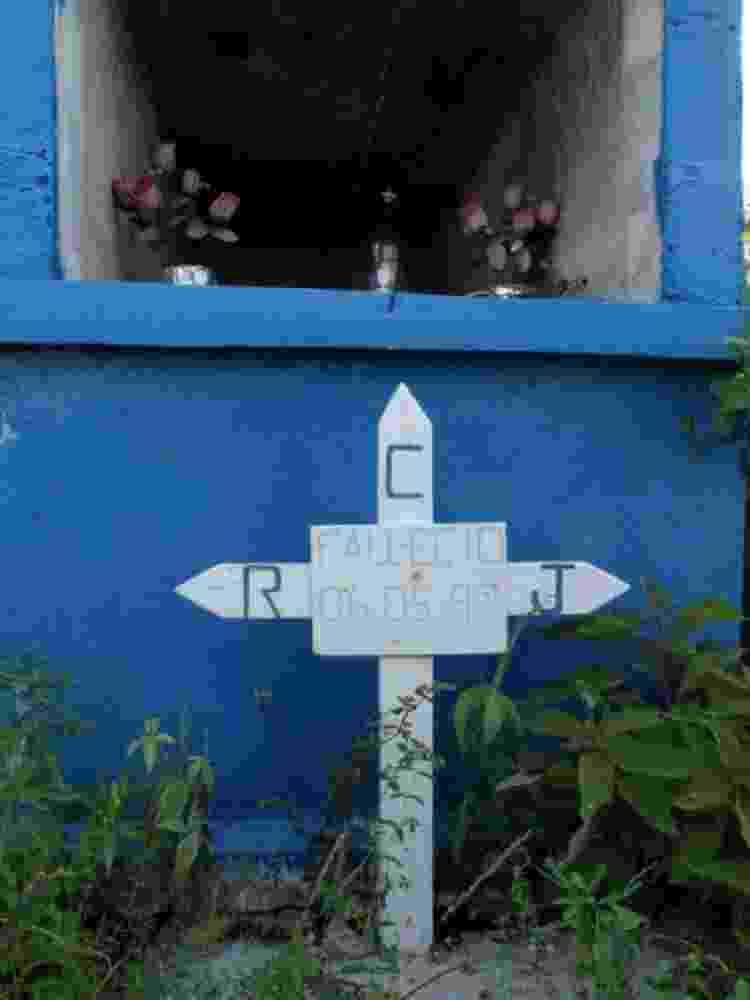 Rubén Imaz encontrou o modesto túmulo de Rudesindo Cantarell em Isla Aguada, Campeche - RUBÉN IMAZ - RUBÉN IMAZ