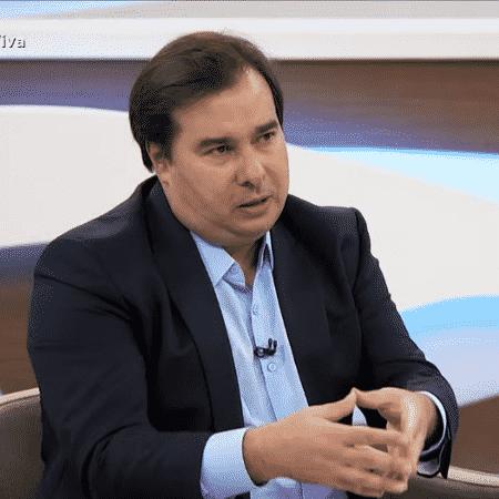 O presidente da Câmara, Rodrigo Maia (DEM), em entrevista ao Roda Viva - Reprodução/TV Cultura