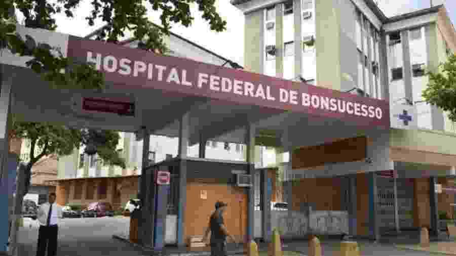 Fachada do Hospital Federal de Bonsucesso, no Rio de Janeiro - Reprodução