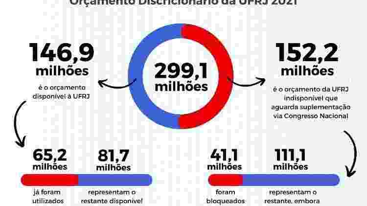 Orçamento discricionário da UFRJ em 2021 - UFRJ - UFRJ