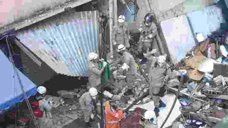 3.jun.2021 - Prédio residencial desaba em Rio das Pedras, na zona oeste do Rio - Jose Lucena/TheNews2/Estadão Conteúdo - Jose Lucena/TheNews2/Estadão Conteúdo
