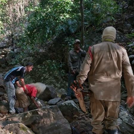Idosa de 97 anos foi encontrada em mata na área rural de Niquelândia (GO) - Divulgação/ Corpo de Bombeiros de Goiás