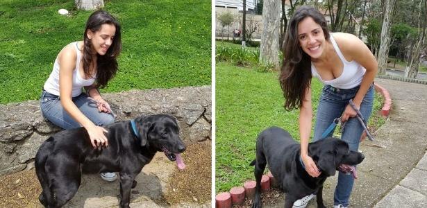 A engenheira Tamires Lustosa passou a cuidar de animais; ganho chega a R$ 1.500/mês