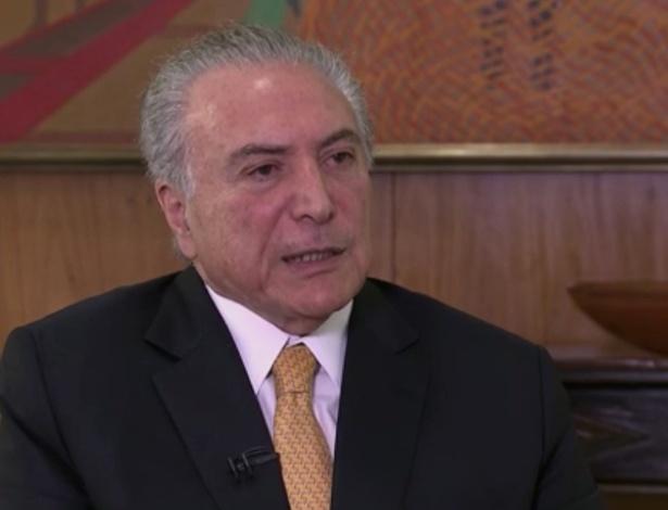Presidente Michel Temer em entrevista a Roberto D'Ávila