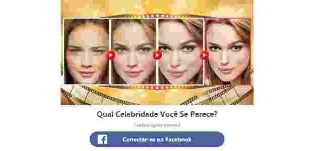 Teste de Facebook Qual Celebridade Você Se Parece? - Reprodução