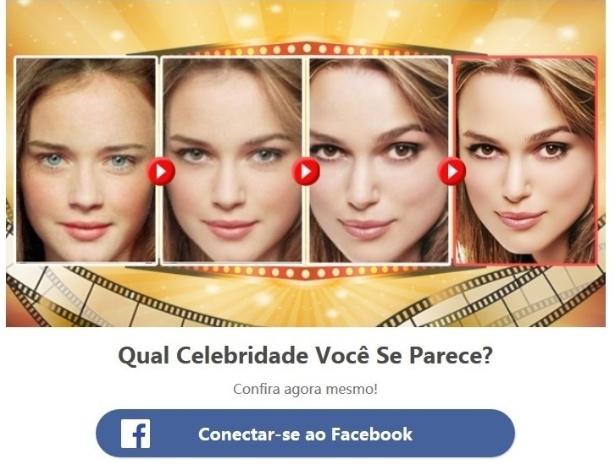 Teste de Facebook Qual Celebridade Você Se Parece?