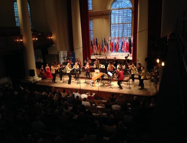 Orquestra Barroca da União Europeia em apresentação em maio de 2016 na igreja da St. John's Smith Square, em Londres