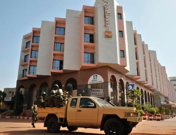 O Radisson Blu Hotel em Bamako, no Mali