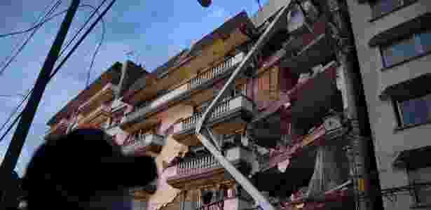 Guindaste terremoto - Yuri Cortez/AFP - Yuri Cortez/AFP