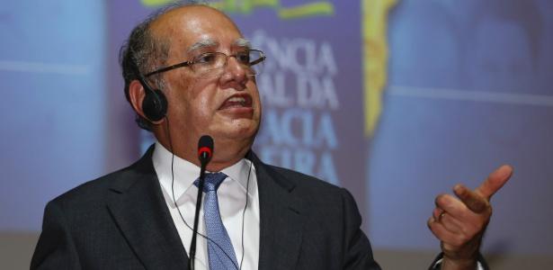 27.nov.2017 - Gilmar Mendes, ministro do STF (Supremo Tribunal Federal), participa de evento promovido pela OAB (Ordem dos Advogados do Brasil) em São Paulo