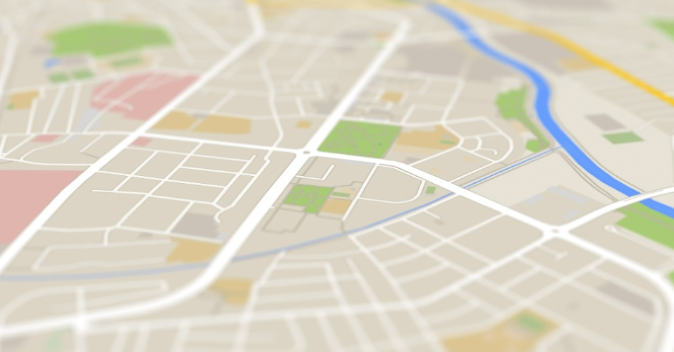 Cidade, mapa, localização, celular