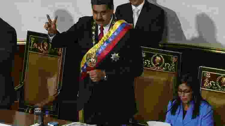 Maduro faz juramento como presidente reeleito em 24 de maio de 2018 na Venezuela - Federico Parra / AFP