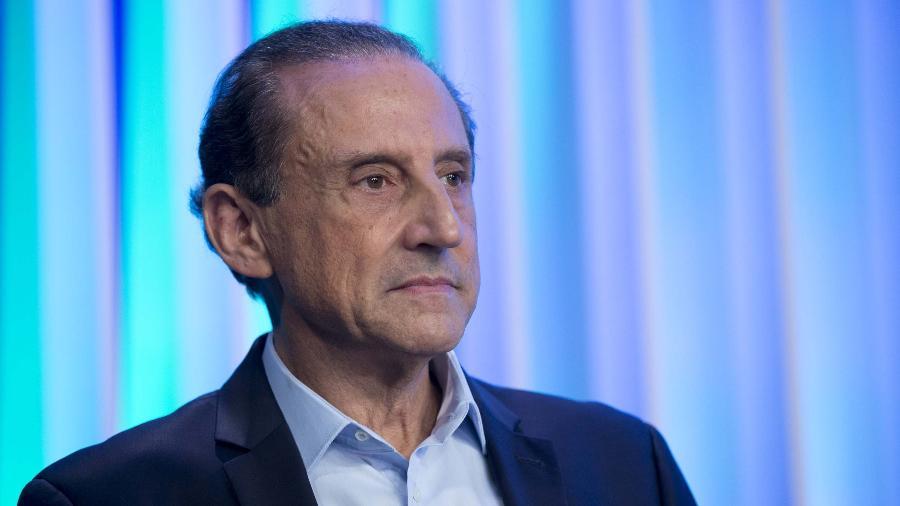 2.out.2018 - Paulo Skaf, durante debate promovido pela TV Globo - Paulo Lopes/Futura Press/Estadão Conteúdo