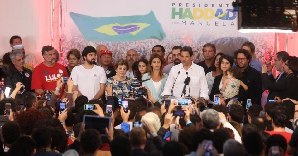 Fernando Haddad (PT) em seu primeiro discurso após a eleição de Jair Bolsonaro (PSL)