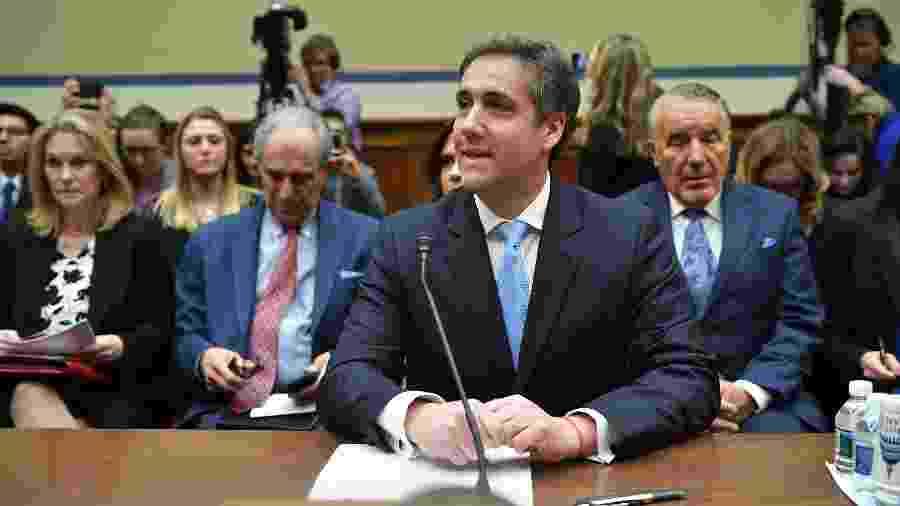 27.fev.2019 - Michael Cohen, ex-advogado de Donald Trump testemunha ao Congresso americano - MANDEL NGAN/AFP