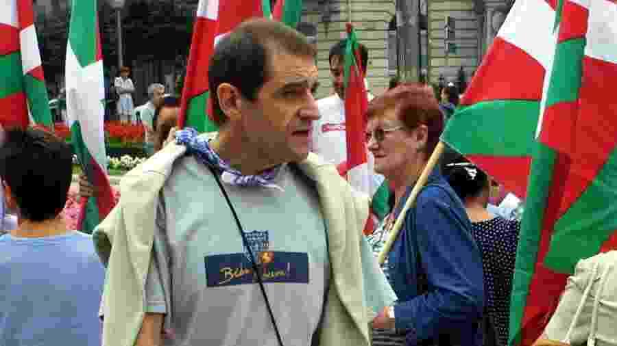O ex-líder político do ETA José Antonio Urrutikoetxea Bengoetxea, mais conhecido como Josu Ternera, foi detido em 16 de maio de 2019, na França, depois de passar 17 anos foragido da justiça espanhola - RAFA RIVAS/AFP