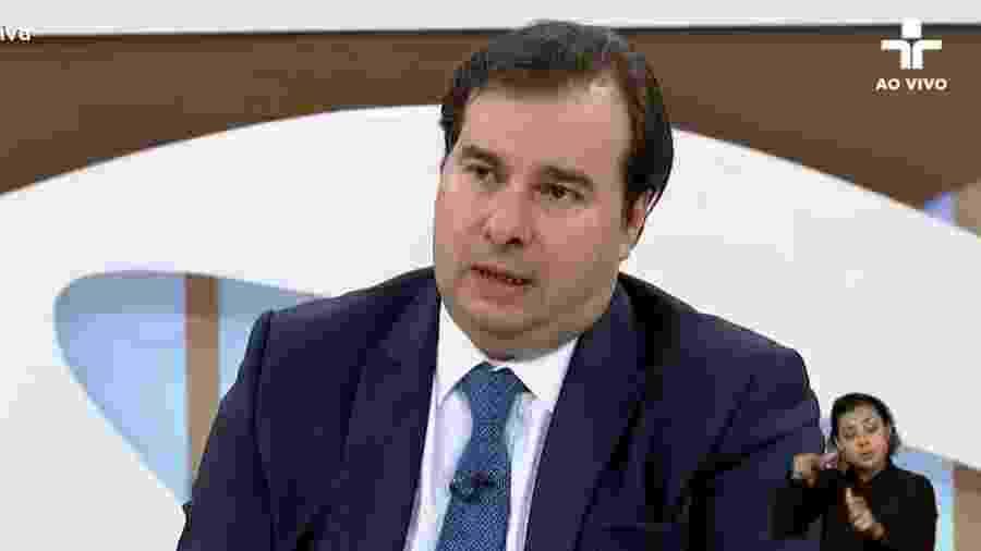 12.ago.2019 - O presidente da Câmara dos Depuados, Rodrigo Maia, no Roda Viva - Reprodução/TV Cultura