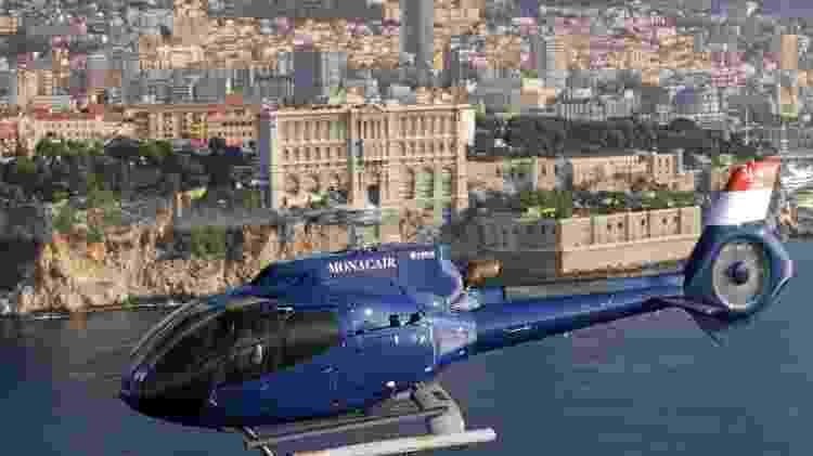 Passageiros da primeira classe da Emirates viajam de helicóptero sem custo entre Nice e Mônaco - Divulgação