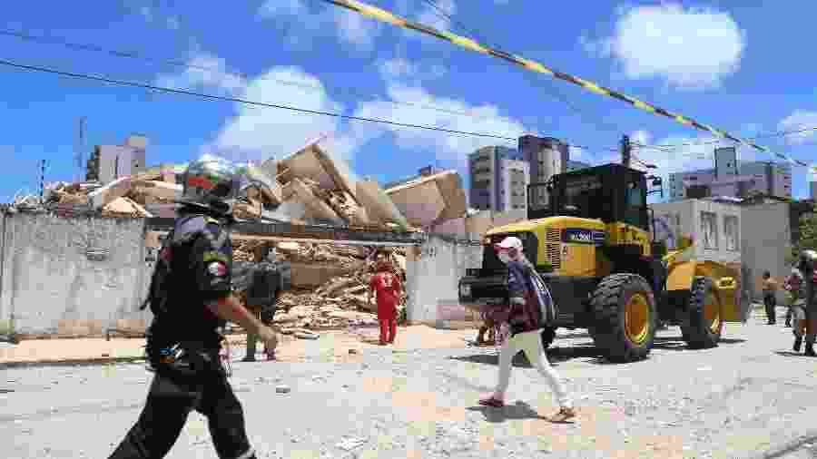 Edifício Andrea, que desabou em Fortaleza, tinha 7 andares - Kleber Gonçalves/Futura Press/Folhapress