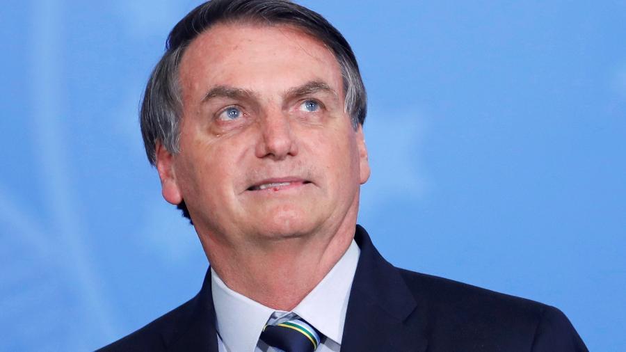 O presidente Jair Bolsonaro durante cerimônia no Palácio do Planalto -