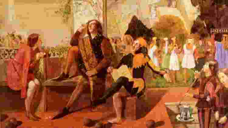 "Lizzie foi Viola em ""Twelfth Night"" (c. 1850), de Walter Howell Deverell - Alamy"