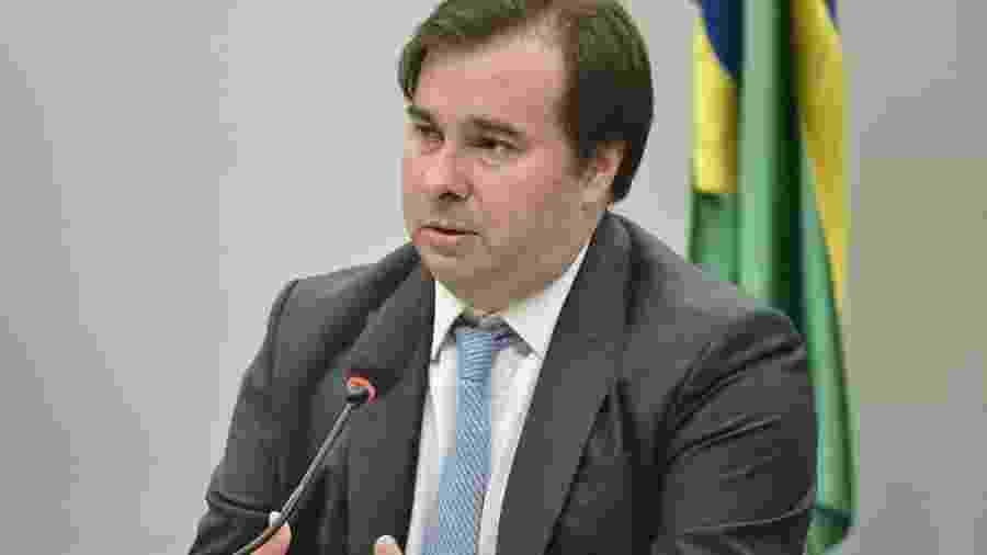 11.mar.2020 - O presidente da Câmara dos Deputados, Rodrigo Maia (DEM-RJ), durante coletiva na Casa - Renato Costa/Framephoto/Estadão Conteúdo