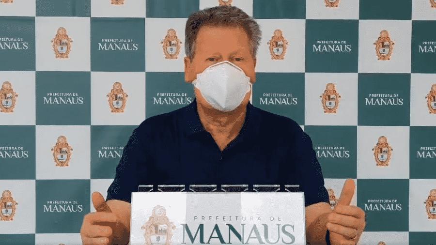 O prefeito de Manaus, Arthur Virgílio Neto, que anunciou que prepara queixa-crime contra Bolsonaro que o xingou durante reunião ministerial - Reprodução/Twitter/@Arthurvneto