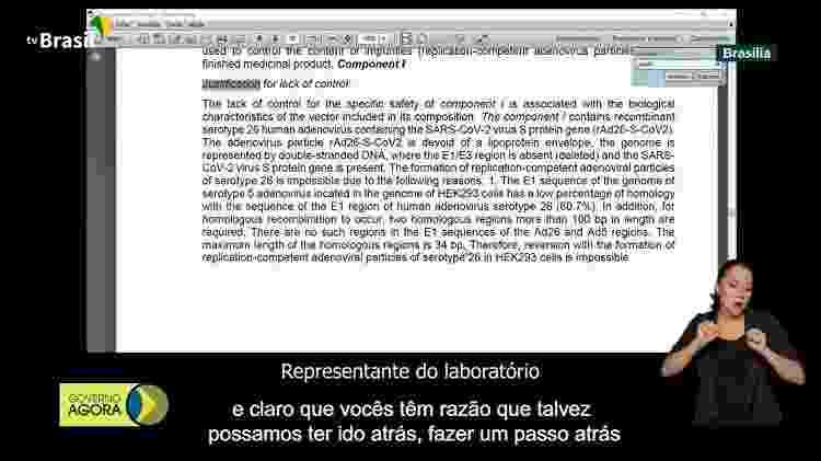 da - Reprodução/TV Brasil - Reprodução/TV Brasil