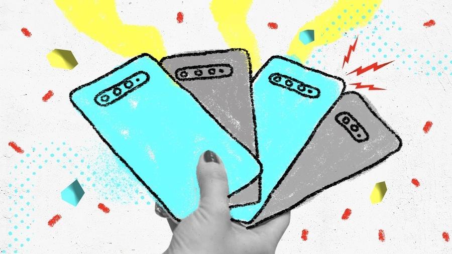 Galaxy M, Galaxy S, Galaxy Note, Galaxy Z: qual escolher? - Arte UOL