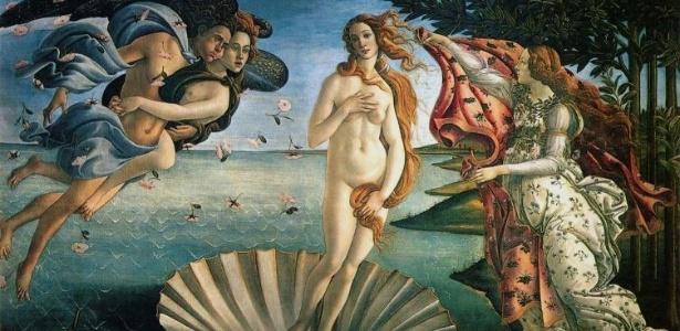 """""""O nascimento de Vênus"""", pintado por Sandro Botticelli, por volta de 1485"""