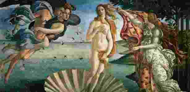 """""""O nascimento de Vênus"""", pintado por Sandro Botticelli, por volta de 1485 - Reprodução"""